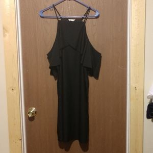 CATO NWT all black cold shoulder dress